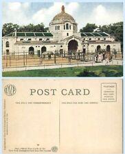 Exterior Elephant House  New York Zoological Park Animal Zoo Postcard