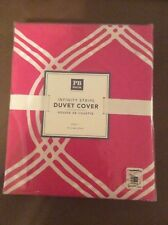 $69 Pottery Barn twin duvet bright pink dorm college room bed cover blanket girl