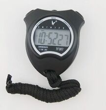 Black Handheld 1 Row Big-digit Display 2 laps split time Sports Stopwatch Timer