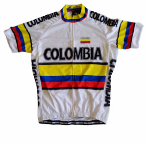OCG Cycling Jersey  Colombia Flag Short Sleeve Shirt Mens Medium