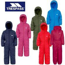 TRESPASS DRIPDROP ALL IN ONE PADDED WATERPROOF RAINSUIT SNOW SUIT KIDS DRIP DROP