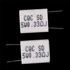 10pcs 5W 0.33Ohm Cement Resistor Non-Inductive Ceramics Resistor BPR56/CQC BH