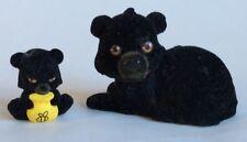 Jungle en mi bolsillo – Black Bear Family: 2 X Figuras – Lindo Conjunto de Juego