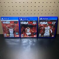 3 Game PS4 Lot-NBA 2K14 2K16 & 2K17 (Sony PlayStation 4) - Complete -Tested
