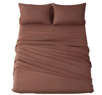 4pc Shilucheng Bed Sheet Set Microfiber 1800 Thread Count Percale Egyptian QUEEN