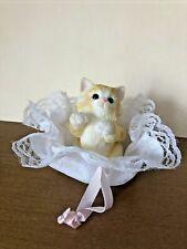 "2001 Enesco Calico Kittens 'Enjoy Life'S Delicate Pleasures"" Priscilla Hillman F"