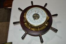 VINTAGE SCHATZ GERMAN MARINER SHIPS CLOCK BAROMETER THERMOMETER WORKING
