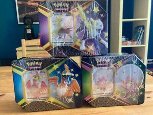 Pokemon TCG Glänzendes Schicksal 3er Tin Box Bundle - Deutsch