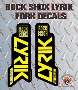 Rockshox Lyrik Ultimate 2019 Style Fork Sticker Decal Graphics Enduro,DH, Yellow