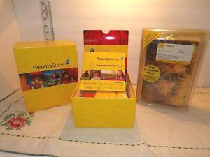 ROSETTA STONE Italian Level 1-5 CD & Teach Yourself Arabic 2-CD Book SoundRecord