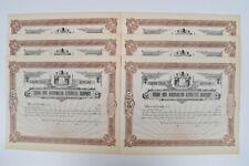 Vintage 1900 Stock Certificate Maine & Washington Securities Co Serialized 11-16