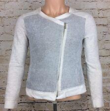 Calvin Klein Performance Asymmetrical Fleece Jumper Jacket White/Grey