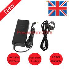 75w 3.9a for ASUS X5dc A52f-ex1240u N17908 Laptop Charger AC Adapter Lead UK