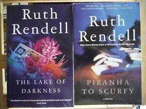 Lot of 2 Ruth Rendell Books; 'Piranha to Scurfy' & 'The Lake of Darknes's