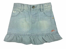 Mantaray Baby Girl Skirt Denim Striped Blue Frilly 18-24 Months