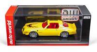 Pontiac Firebird 1977  Yellow, 1/43 Model Car. Resin Autoworld