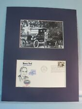 Henry Ford & the Model T Ford & his Quadricycle & First day Cover of his stamp