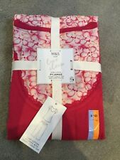 M&S BRIGHT PINK SHORT SLEEVE PYJAMAS WITH FLORAL CROP TROUSERS - 8-10 -BNWT
