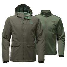 The North Face Men's Canyonlands Triclimate 3 in 1 Jacket Green Warm Hooded, M