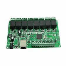 8 Channel Relay Network IP Relay Web Relay Dual Control Ethernet RJ45 Relay