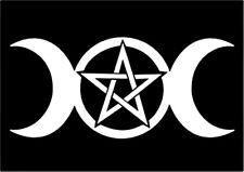 Triple Goddess Pentagram Decal Wall Art Sticker Rock n Roll Hippie Grateful Dead