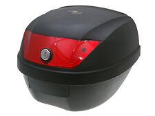 Top case valise noir 28l/réflecteur rouge pour ATV quad roller scooter mobylette