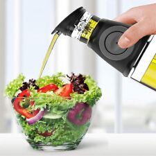 Dispenser dosatore olio aceto tappo a pressione salvagoccia oliera vetro 500ml