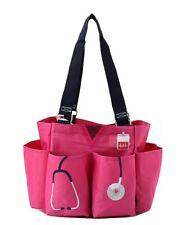 Nurse Doctor NGIL Small Zip pink canvas purse Caddy Organizer Tote Bag Free Ship