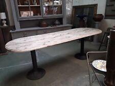 grande table de repas de service pieds bistrot en fer