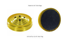 Wholesale Lot 12 Five Hole Gold Weighted Base For Desk Set Table Stick Flags