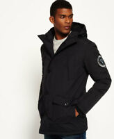 New Mens Superdry Everest Parka Jacket Black