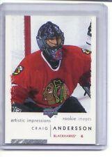 2002-03 UD Artistic Impressions #132 Craig Andersson RC (SENATORS OTTAWA)