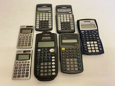 Texas Instruments And Casio Calculators Lot Of 7 All Tested And Working