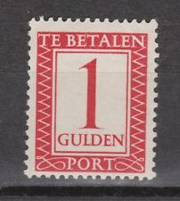 Port nr.105a ongebruikt MLH VERTICAAL WATERMERK NVPH Nederland due stamp
