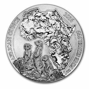 2016 Rwanda 1oz African Wildlife Series Meerkat Silver Bullion Coin Mint Sealed