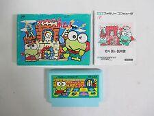 KEROPPI TO KERORINU Splash bom -- Boxed. Famicom, NES. Japan game. 13665