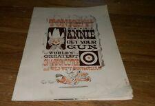 Vintage ANNIE GET YOUR GUN Program BARBARA EDEN History JOHN BENNETT PERRY Rare