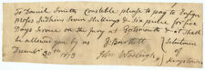 Signer of Declaration of Independence Josiah Bartlett Autograph Document Signed