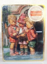 Mj Hummel Stationary In Reusable Metal Box - 1993 collectible metal box