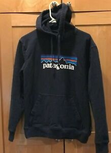 Patagonia Uprisal Hooded Sweatshirt Men's Medium Blue Cotton Blend