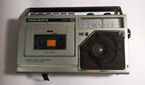 FAIR MATE Of Japan CR-354 3 Band Radio Recorder Cassette player Untested