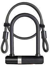 AXA Newton Mini 150/14 U /D Lock Black With Cable & Bracket Steel Bicycle Lock