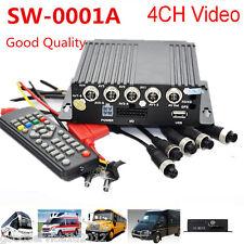 Mini Realtime SD Autos Bus Mobile DVR 4CH Video/Audio Recorder & Remote Control