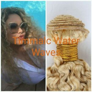 12A 100% BLONDE 613# BRAZILIAN VIRGIN HUMAN HAIR WATER WAVE 10 TO 30INCH 100g(1)