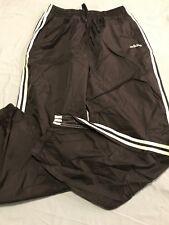 Adidas Negro Blanco Con Rayas Pantalones De Tobillo De Cremallera De Nylon  Rompevientos Atléticos TS8 1e7c57ee8943