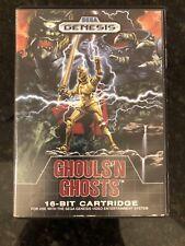 Ghouls 'n Ghosts (Sega Genesis) Video Game Cartridge, Manual, and Case