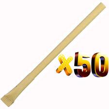Lot 50pcs Slim ECO Ball Pen with Broom Cap,Recycled Paper Green Concept Present
