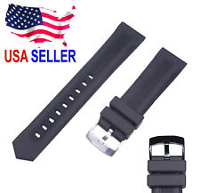 20mm 22mm Black Rubber Watch Band Strap fits TAG HEUER Formula 1 F1 Tang Buckle
