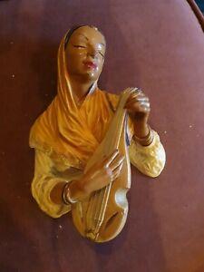 Vintage Bossons Mandolin Player Chalkware Head