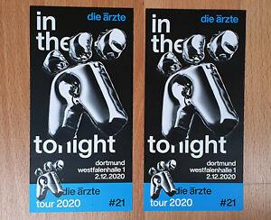 Die Ärzte 2 Tickets Dortmund Westfalenhalle Innenraum 1.12.2021